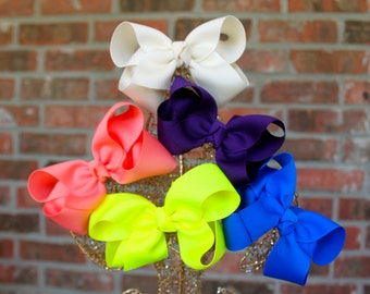 Boutique Hair Bow, large, your choice of color