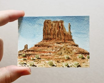 ACEO Print Landscape ACEO Limited Edition Art Card Watercolor ACEO Landscape Painting Collectible Art Miniature Art Unframed Art Desert Art