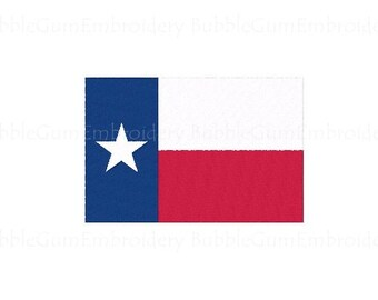 Texas Flag Embroidery Design Instant Download