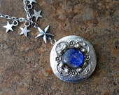 Starry, Starry Night Silver Locket, Heavenly Constellation Silver Locket by Enchanted Lockets