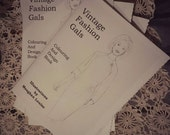Vintage Gal Handmade Vintage Fashion Colouring Book