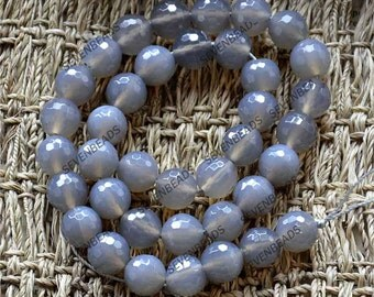 FACETED 10mm Grey agate stone beads,agate beads ,Agate Gemstone Chain Beads,agate nugget stone beads loose strands