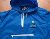 1986 Volvo International Tennis Tournament Warmup Jacket, Vintage 80s, Blue Windbreaker Warm Ups