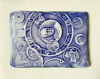 Handmade Porcelain Tile - John Bauer
