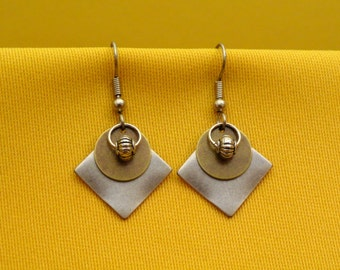 Stellar silver and gold earrings (Style #229G)