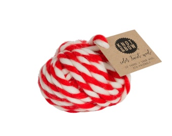Red Color Twist Wool / 10 Yards