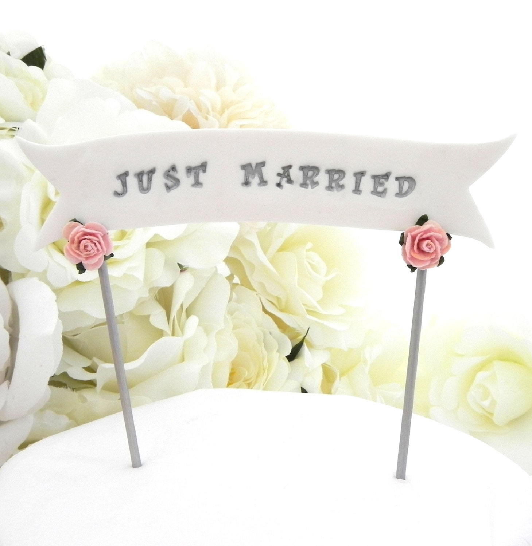 Wedding Cake Topper Banner YOUR NAMES or Custom Phrase
