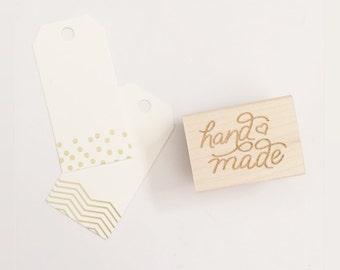 Handmade - Handlettered Rubber Stamp