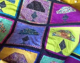 TIFFANY LAMP  QUILT   Quilt/Wall Hanging - Pattern Only.  Janelle Lombard Design