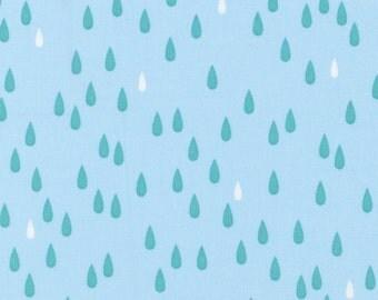 White and blue raindrops on light blue from l's modern Basic 2015 by Lecien- blender