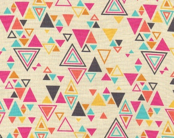 Washi triangles cream Rashida Coleman Hale Timeless Treasures fabric FQ