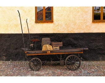 Fine Art Color Photography of Rustic Old Cart in Sweden