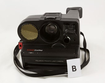 Polaroid Sonar OneStep Pronto Land Camera with manual