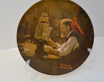 The Ship Builder Fourth Plate Rockwell Heritage Collection No COA or Box l980
