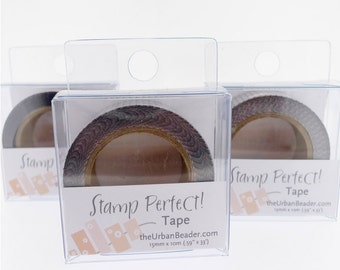 Stamp Perfect Tape-Clear-Urban Beader-Helps Align Letters-Great tool-Metal Supply Chick