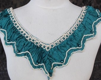 Cute embroidered   and beaded  chiffon   applique