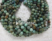 38pcs 10mm round Faceted African turquoise beads