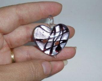 Decorative Heart Glass bead- detash