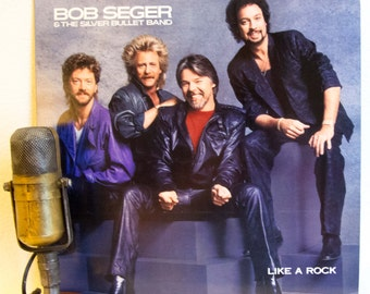 "ON SALE Bob Seger Vinyl Record Album LP 1980s Classic Rock and Roll Detroit Michigan Roots Rock Pop ""Like A Rock"" (1986 Capitol w/""Like A Ro"