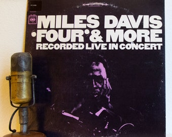 "Miles Davis Vinyl Record Vintage 1960s LIVE Jazz Music New York City ""LIVE: 'Four' & More"" (1977 Cbs Re-issue w/""Seven Steps To Heaven"")"