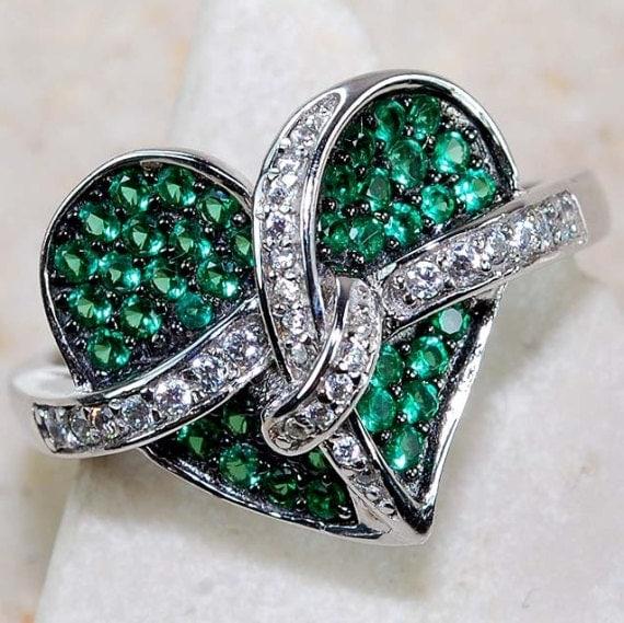 2 carat emerald white topaz ring