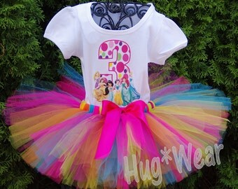 Personalized Birthday Princess Shirt + Tutu Outfit  (Any age or colors)