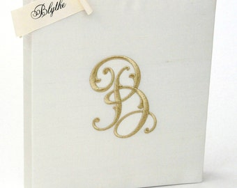 Personalized Wedding Guest Book & Brides Book - Blythe