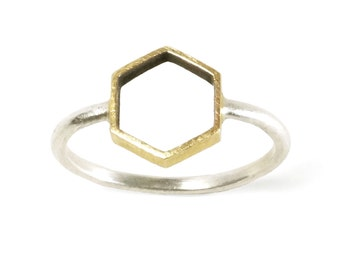 Hollow Hexi Ring
