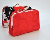 Rosettes in Love -  Mini Coin Purse / Cards holder / Kiss lock purse