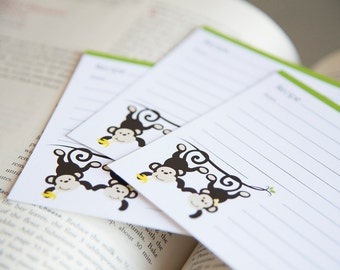 Recipe Cards - Monkeys
