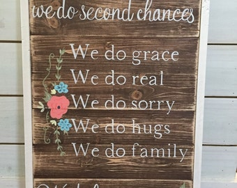 We do family wood sign