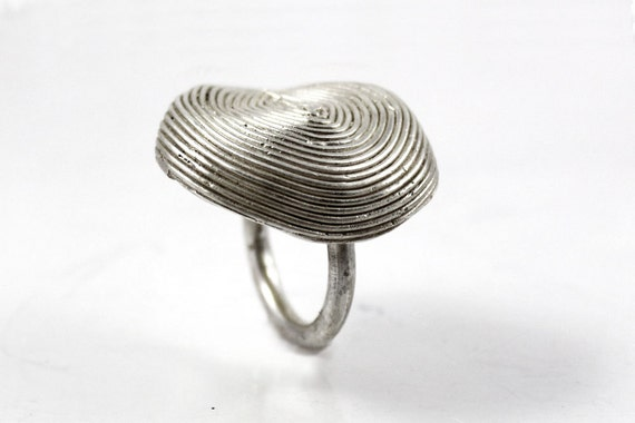 Statement ring Modern cocktail ring Bold silver ring Tribal ring