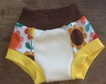 Little Acorn Designs 1 pair small potty learning undies, cloth training pants with double layer heavy organic bamboo fleece. Ready to ship.