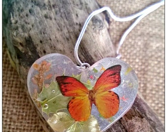 Nature calls butterfly necklace