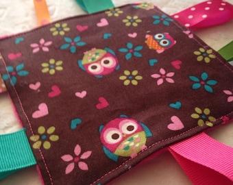 Owl Baby Girl Crinkle Toy