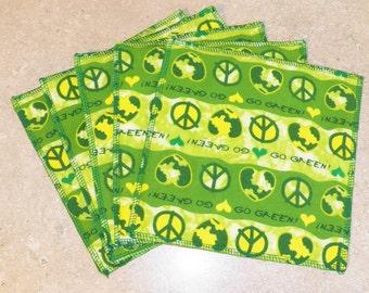 Cloth Wipes- Go Green- Set of 5- 15041