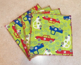 Cloth Wipes- Vehicles- Set of 15- 15018
