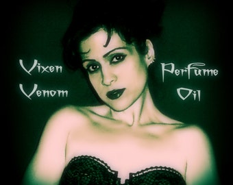 VIXEN VENOM Perfume Oil -  Vampire Perfume -  Amber, Vanilla, Patchouli, As Featured in the Throw A True Blood Party Book