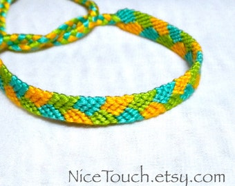 SUMMER SALE!!! Free Shipping or Save 20% ~ Margarita: Summer Series knotted friendship bracelet ~ Made to Order