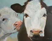 """Cow painting  """"Lily and Estelle"""""""