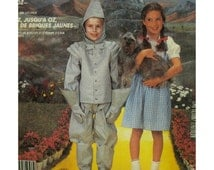Childs Tinman and Dorothy Costumes Pattern, Wizard of Oz Characters, Hood, Boots, Gloves, Pinafore  Dress, McCalls No. 2202 UNCUT Size 4-6