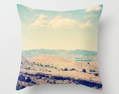 Art Throw Pillow Cover Wild West photography rustic landscape photo Indoor Outdoor photograph southwest home decor brown tan blue desert