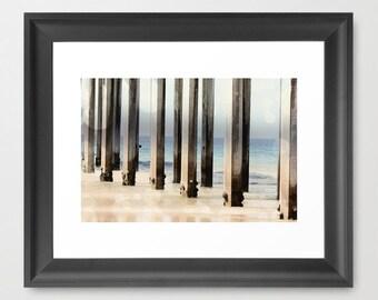 Geometric Photography - Ocean Photograph - Geometric Lines - Boardwalk photography - California Art Print - Nautical Photo - Beach print