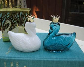 Avon Royal Swans - Cologne Bottles - Original Box - Oak Hill Vintage
