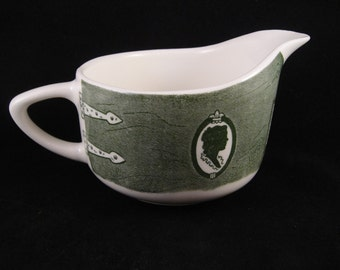Colonial Homestead Royal China Green White Creamer