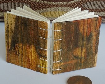 Mini Book - Coptic Sewn - For Carefully Chosen Words - Old School