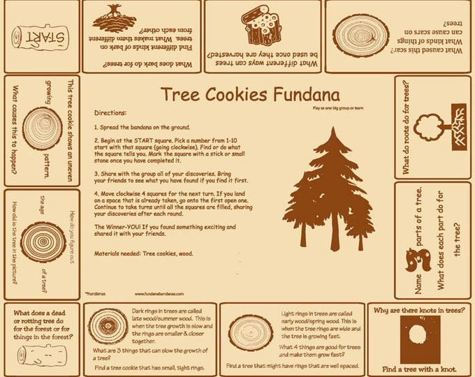Tree Cookies Fundana a fun way to learn about trees, tree cookies. Great for scouts, schools and more!