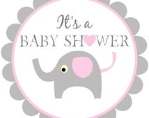gray and pink baby elephant popular items for elephant labels on etsy