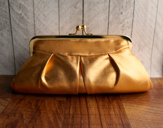 Clearance. Burnt orange formal clutch purse, party clutch, Metallic purse, Metallic clutch, copper clutch bag in frame