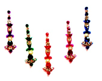 Multi Color Bindis, Indian Accessory,Indian Tikka